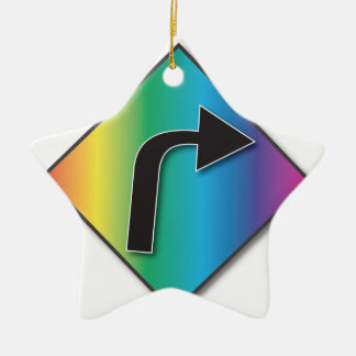 Support Equal Rights Ceramic Star Ornament