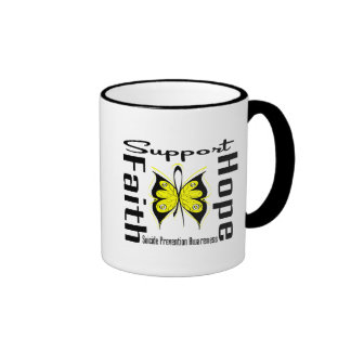 Support Faith Hope Suicide Prevention Awareness Mugs