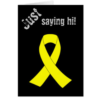 Support for Military Forces - Yellow Ribbon Greeting Card