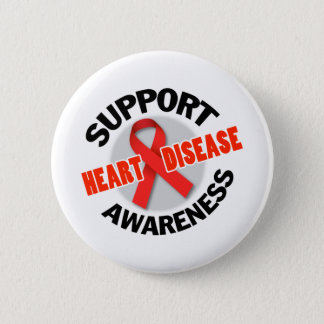 Support Heart Disease Awareness Seal 2 Inch Round Button