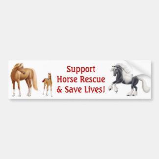 Support Horse Rescue Bumper Sticker