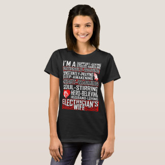 Support Husband Loving Electrician Wife Tshirt