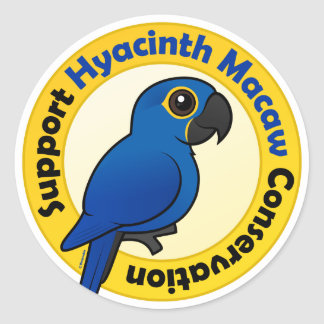 Support Hyacinth Macaw Conservation Classic Round Sticker