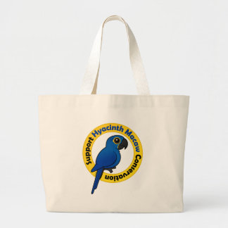 Support Hyacinth Macaw Conservation Jumbo Tote Bag