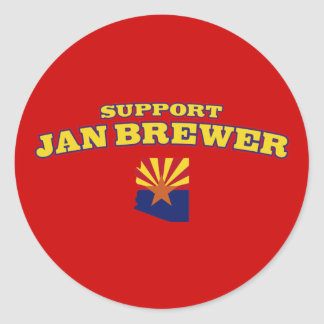 Support Jan Brewer Classic Round Sticker