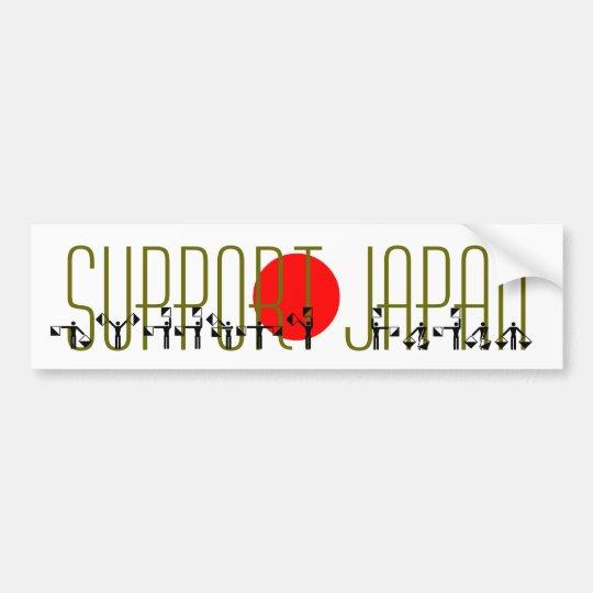 SUPPORT JAPAN semaphore flag Bumper Sticker