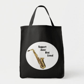 Support Jazz Grocery Tote Bag