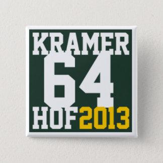 Support JerryKramer4HOF 2 Inch Square Button