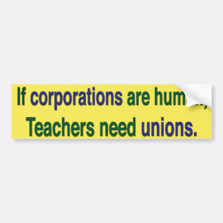 Support Labor Unions Bumper Sticker