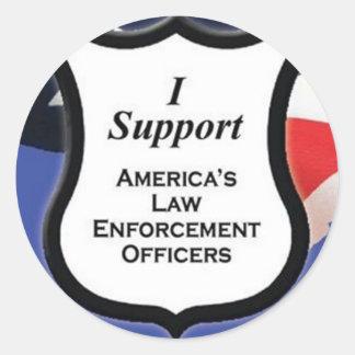 Support Law Enforcement Classic Round Sticker