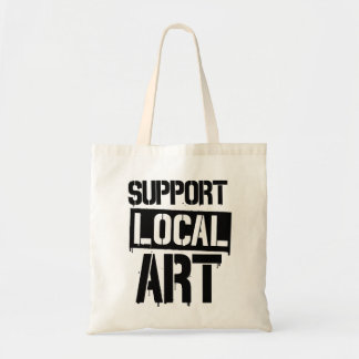 Support local art tote bag