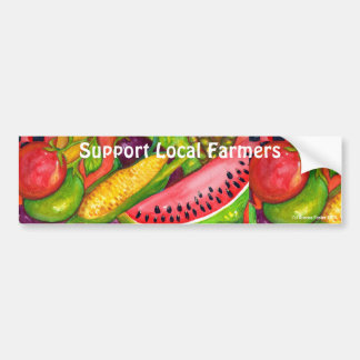 Support Local Farmers Bumper Stickers