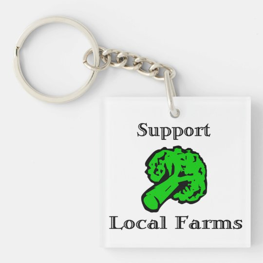 Support Local Farms Broccoli Keychain