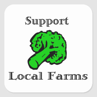 Support Local Farms Broccoli Stickers