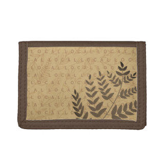 Support Local Floral Fern Pattern Wallet