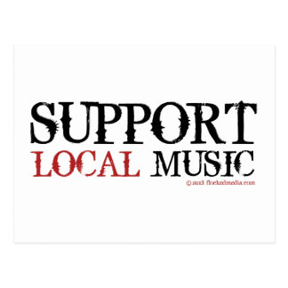 Support Local Music - Postcard