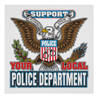 Support Local Police Poster