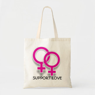 Support Love Female Symbols Lesbian Love Tote