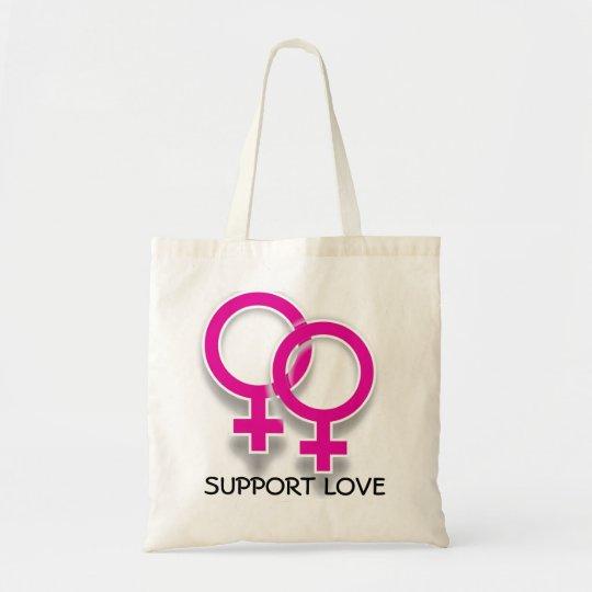 Support Love Female Symbols Lesbian Love Tote
