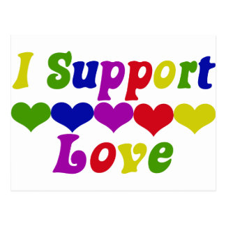 Support Love Postcard