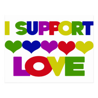 Support Love Postcard