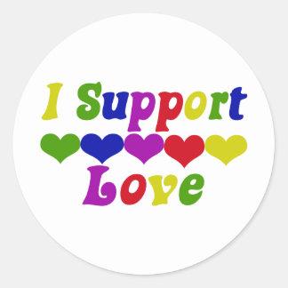 Support Love Sticker