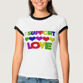 Support Love Tee Shirts