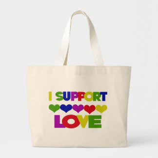 Support Love Tote Bags