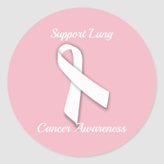 Support Lung Cancer Awareness - Round Stickers