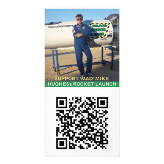 """SUPPORT """"MAD"""" MIKE HUGHES's ROCKET LAUNCH Picture Card"""