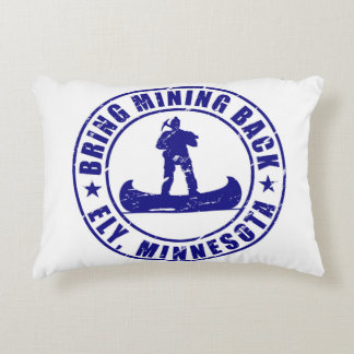 Support Mining in Ely, Minnesota Accent Pillow
