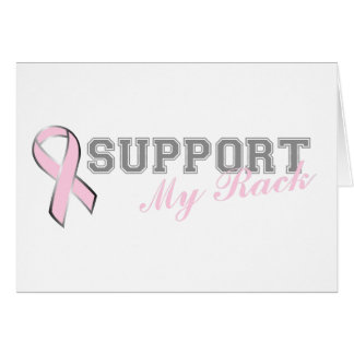 Support My Rack Pink Ribbon Card