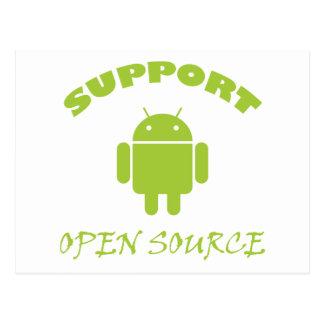 Support Open Source Robot Postcard