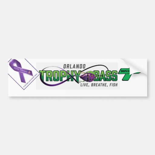 Support Organ Donation and Cystic Fibrosis Bumper Stickers