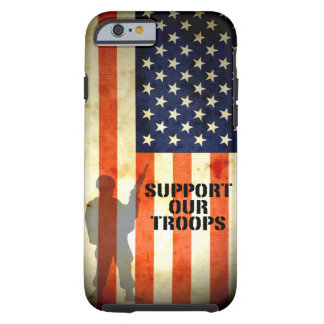 Support our Troop American Flag iPhone 6 case