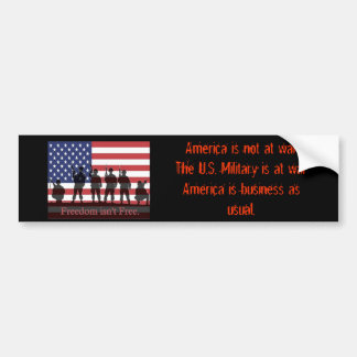 Support-our-Troops--30355, America is not at wa... Bumper Sticker