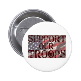 support our troops copy pinback button