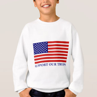 Support Our Troops Flag Kids Sweatshirt