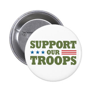 Support Our Troops - Green 2 Inch Round Button