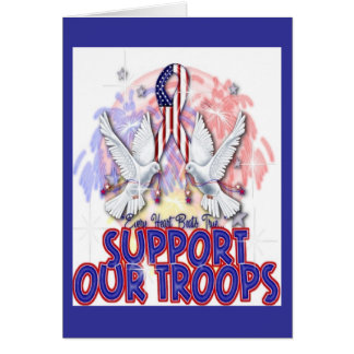 """Support Our Troops"" Greeting Card"