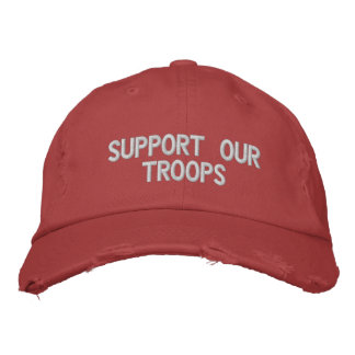 Support Our Troops Hat Embroidered Hats