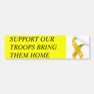 support-our-troops.jpg, SUPPORT OUR TROOPS BRIN... Bumper Sticker