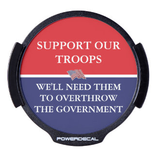 SUPPORT OUR TROOPS LED WINDOW DECAL