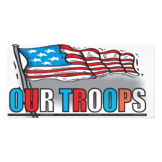 SUPPORT OUR TROOPS PHOTO CARD TEMPLATE