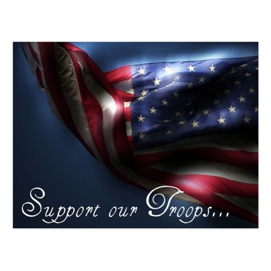 Support our Troops... Postcard