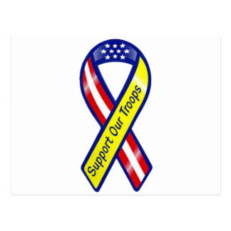 Support Our Troops Ribbon Postcard