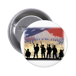 Support Our Troops Soldiers 2 Inch Round Button