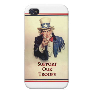 Support Our Troops Uncle Sam Poster iPhone 4 Covers