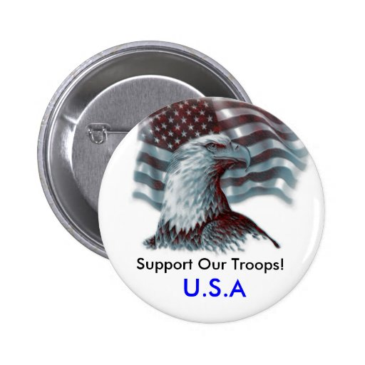 Support Our Troops/USA Button