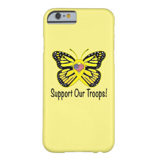 Support Our Troops with Butterfly Barely There iPhone 6 Case